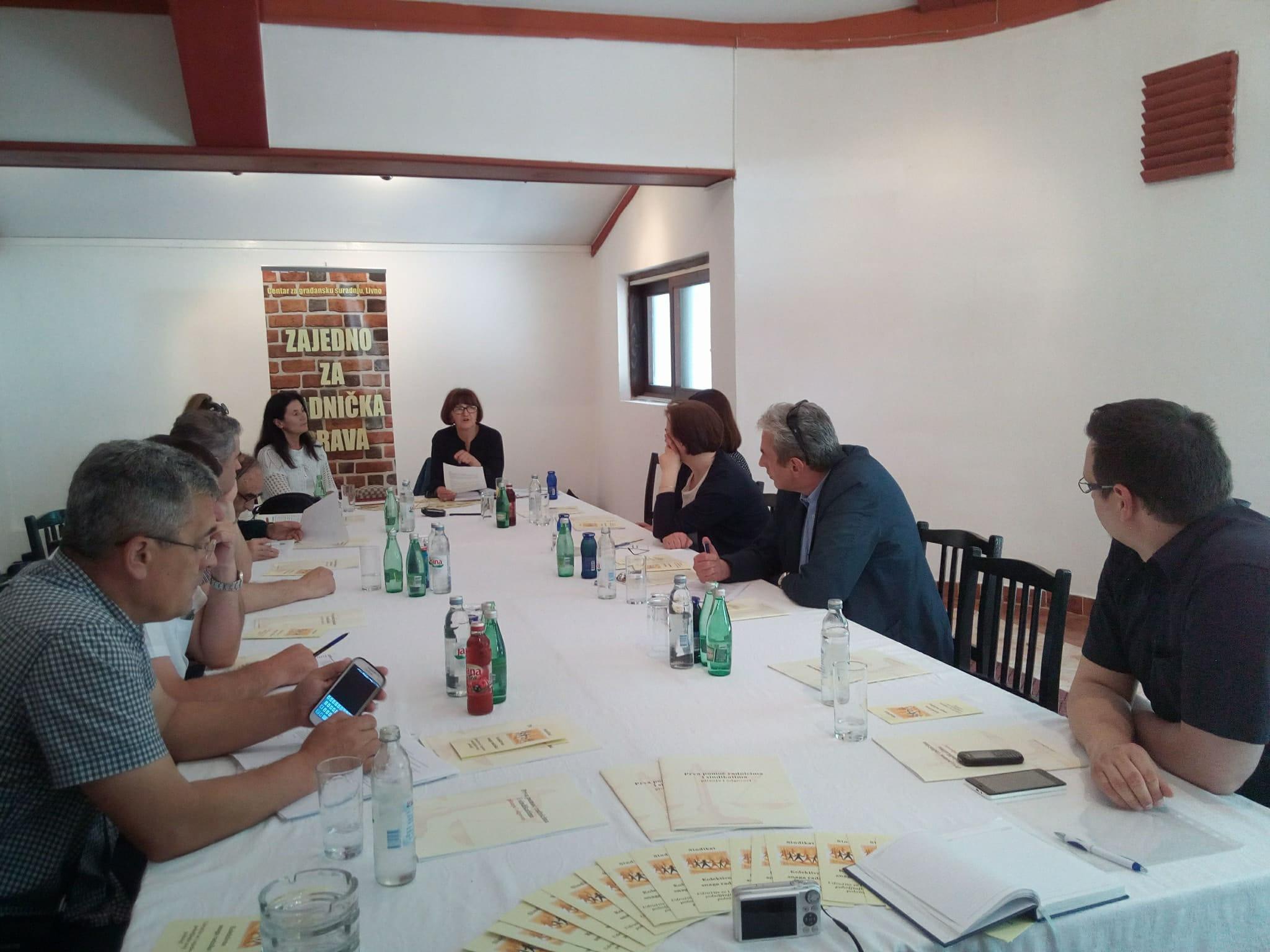 U okviru Koalicije za bolju zaštitu radničkih prava organizirani sastanci u Posušju, Livnu i Mostaru