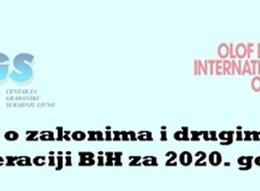 Informacija o  zakonima  i drugim propisima u Federaciji BiH za 2020. godinu
